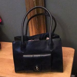 EUC Pelle Studio Navy Blue Leather bag